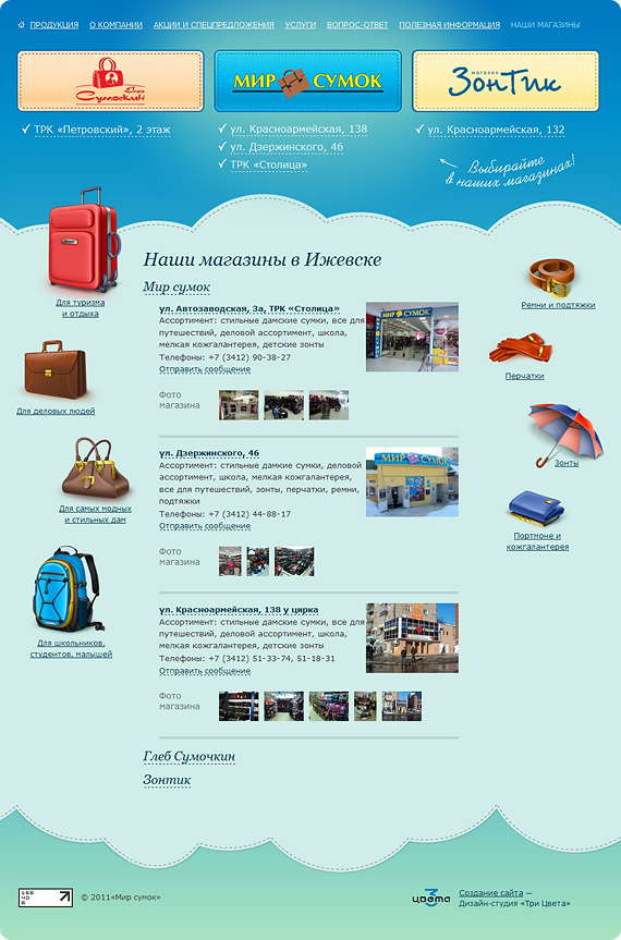 Наши магазины в Ижевске.